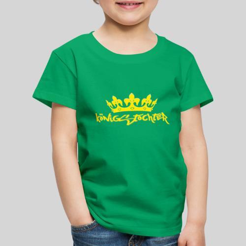 Königstochter m. Krone über der stylischen Schrift - Kinder Premium T-Shirt