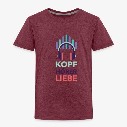 kopfhoererliebe bunt - Kinder Premium T-Shirt