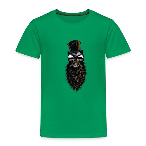 tete de mort hipster crane skull barbu moustachu b - T-shirt Premium Enfant
