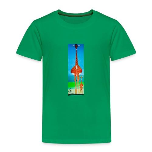 Lustige Giraffe mit Baby - Kinder Premium T-Shirt