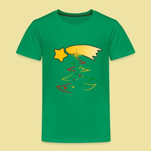 Weihnachtsbaum mit einer Sternschnuppe - Kinder Premium T-Shirt