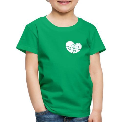 Puzzle-Herz in weiß. - Kinder Premium T-Shirt