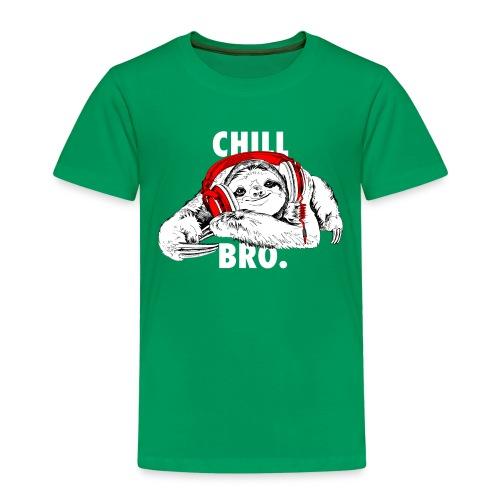 Lustiges Faultier mit Kopfhörern - Chill Bro - Kinder Premium T-Shirt