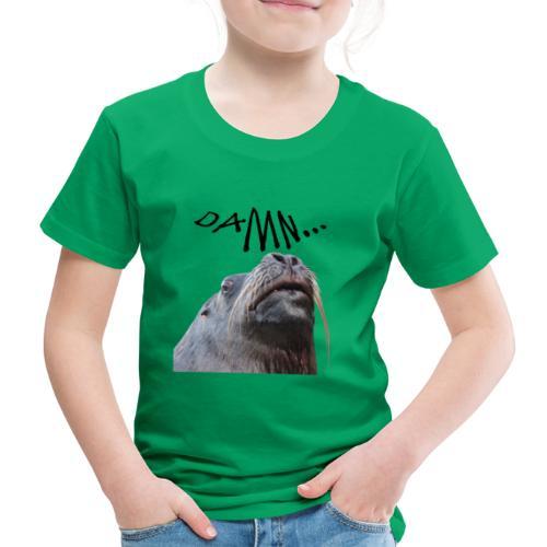tier seelöwe robbe einhorn verdammt spass trend - Kinder Premium T-Shirt