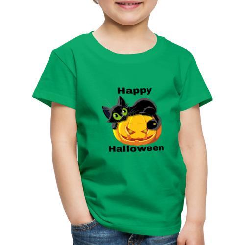 Happy Halloween cat - Kids' Premium T-Shirt