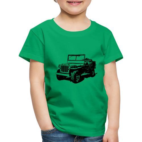 AVM Jeep 4x4 - VECTOR - MULTICOLOR DESIGN - Kinderen Premium T-shirt