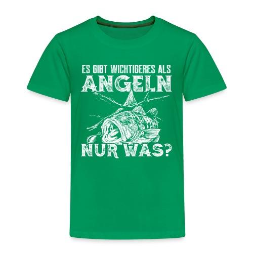 Es gibt Wichtigeres als angeln, nur was? - Kinder Premium T-Shirt