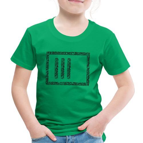 Wegzeichen 3 Min. warten - Stift - Schwarz - Kinder Premium T-Shirt