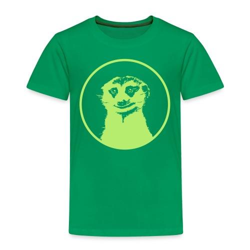Stokstaartje groot rond diapositief - Kinderen Premium T-shirt