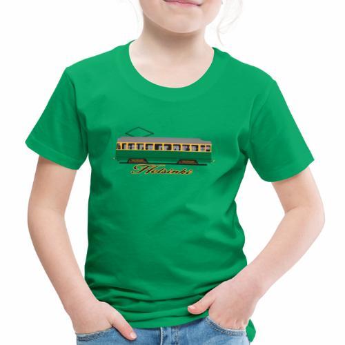 HELSINKI RATIKKA T-PAIDAT, HUPPARIT JA LAHJAT - Lasten premium t-paita
