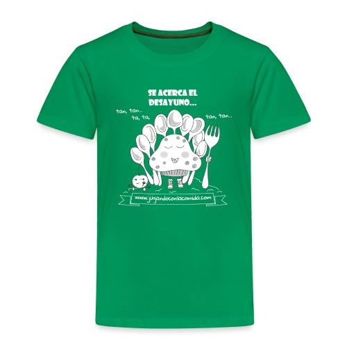 madalenas se acerca el desayuno white gif - Camiseta premium niño