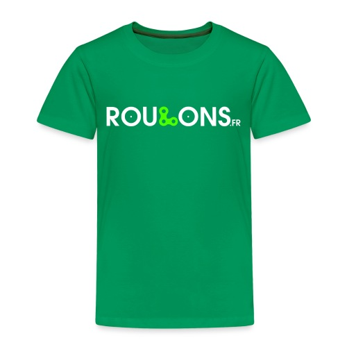logoblancFluo_Roulons.fr - T-shirt Premium Enfant