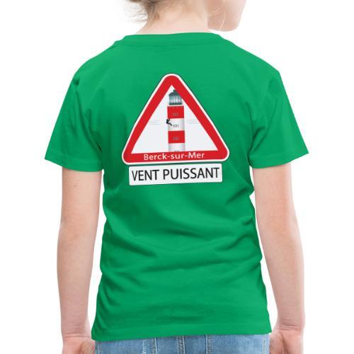 Berck sur mer :Vent puissant I - T-shirt Premium Enfant