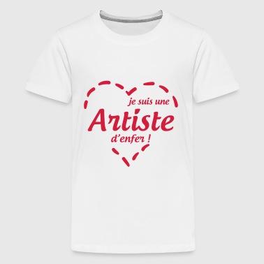 konst / konstnär / musik / art / artist / design - Premium-T-shirt tonåring