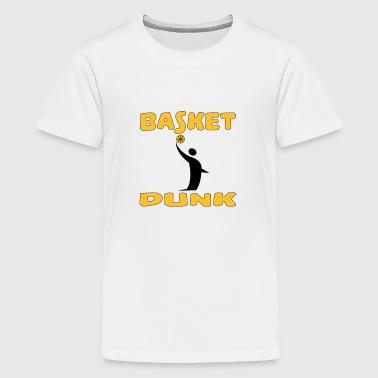 Basket dunk - Premium T-skjorte for tenåringer