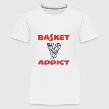 Basket addict - Premium T-skjorte for tenåringer