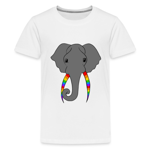 Pride Elephant - Teenage Premium T-Shirt