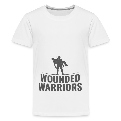 Wounded Warrior Design - Teenager Premium T-Shirt