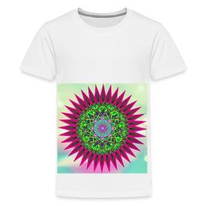 Mandala Flower - Premium T-skjorte for tenåringer