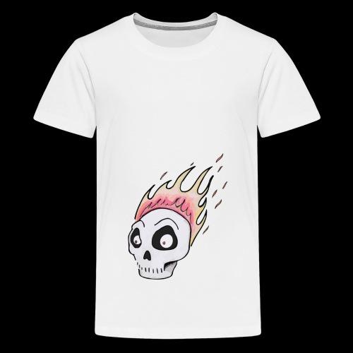 Burning skull1 - Premium-T-shirt tonåring