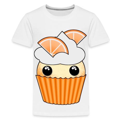 muffins apelsin orange med klyftor - Premium-T-shirt tonåring