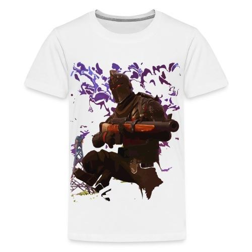 Black Knight - Faded - Teenage Premium T-Shirt