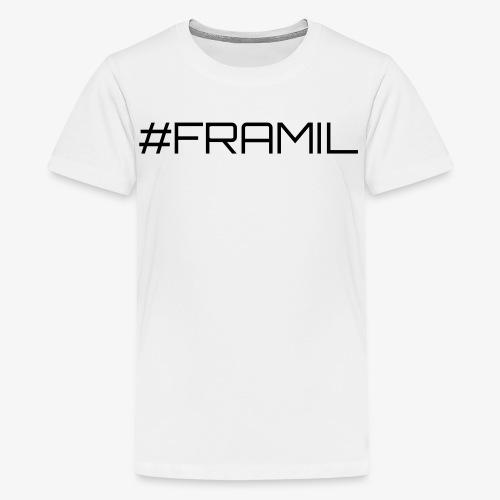 Musta framil - Teinien premium t-paita