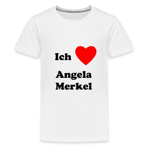 Ich liebe Angela Merkel - Teenager Premium T-Shirt