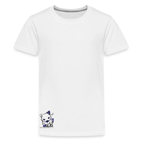 poka dot wolf - Teenage Premium T-Shirt