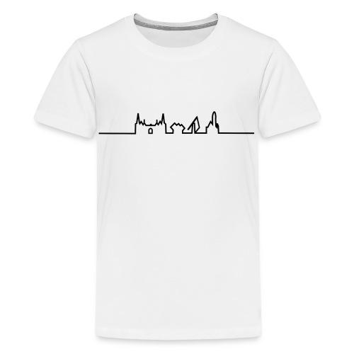 SKYLINE HELMOND ZWART - Teenager Premium T-shirt