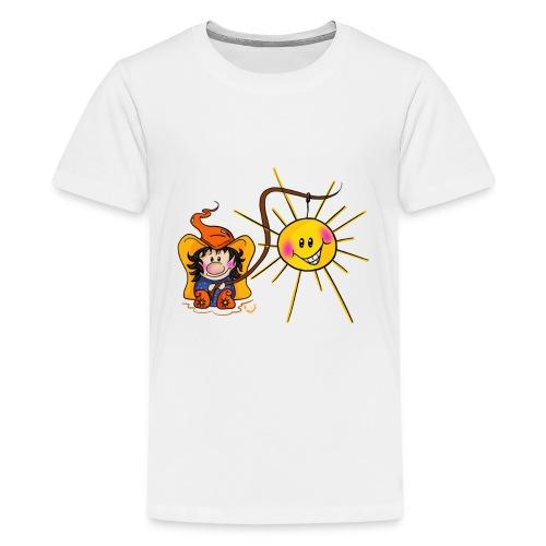 Sonne geangelt - Teenager Premium T-Shirt