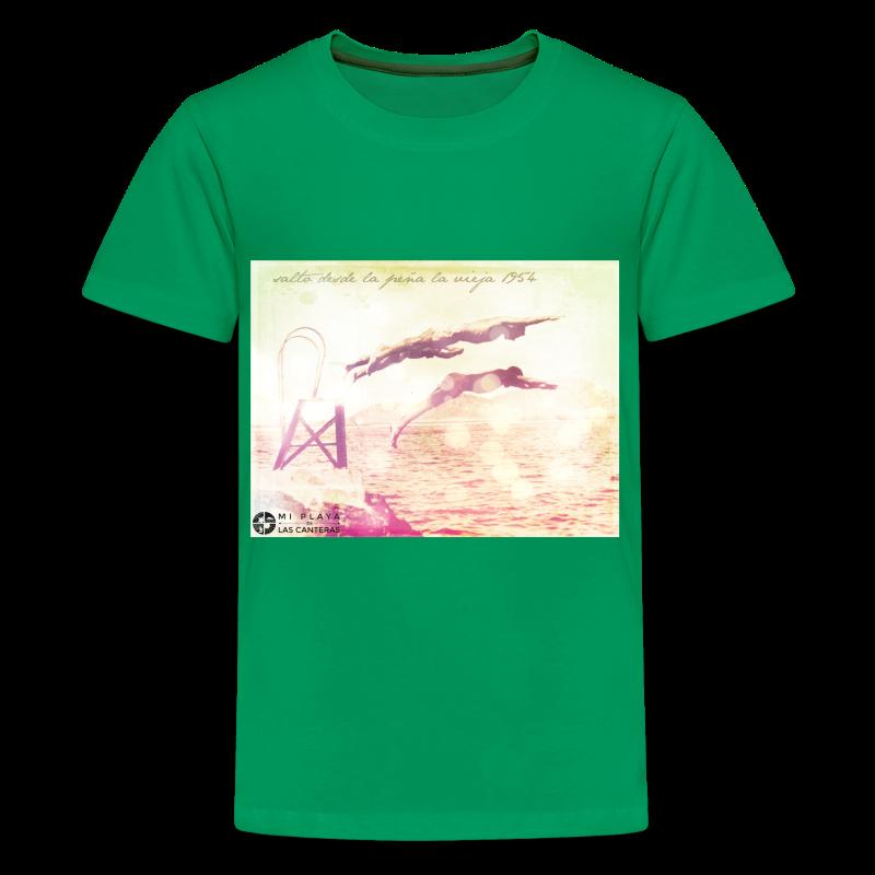 Salto desde Peña la Vieja - Camiseta premium adolescente