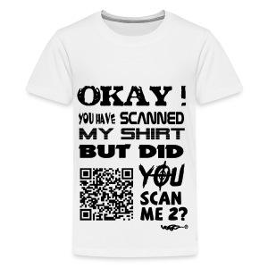 QR shirt for nosy people - Teenager Premium T-shirt