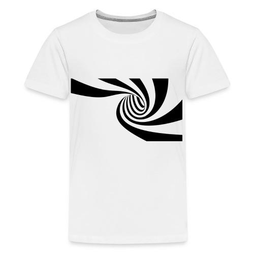 Schwarz - weiße Spirale - Teenager Premium T-Shirt