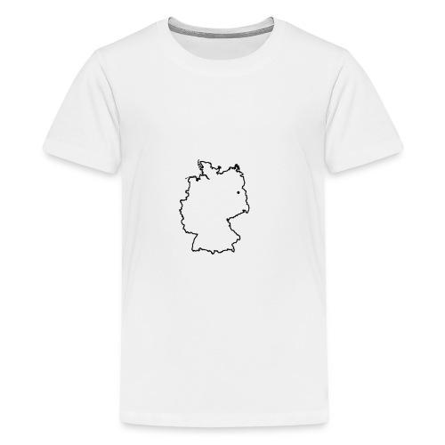 Deutschland kontur - Teenager Premium T-Shirt