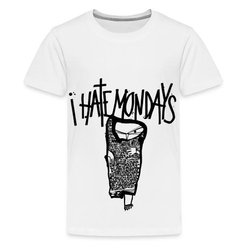 Lundi, je déteste les lundis, je hais les lundis - T-shirt Premium Ado