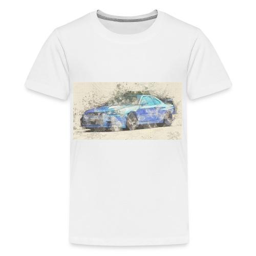 GTR R34 watercolors - Teenager Premium T-Shirt