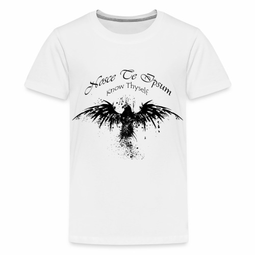 Eagle Splatter Design - Teenage Premium T-Shirt