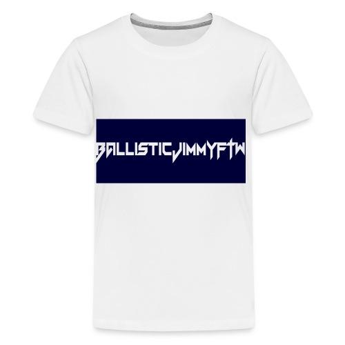 BallisticJimmyFTW Labelled Rectange White - Teenage Premium T-Shirt