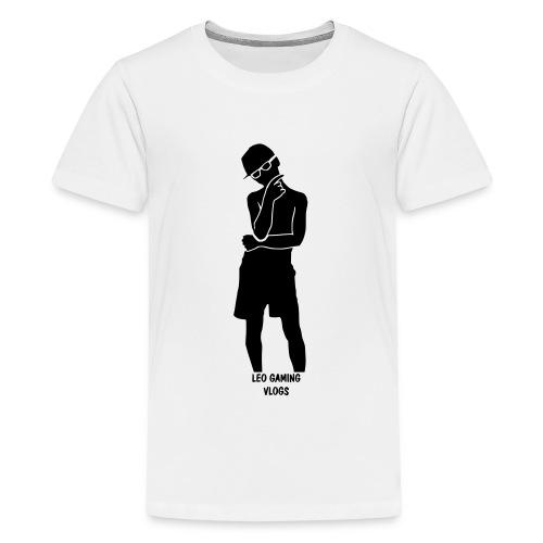 Leo Gaming Vlogs Silhouette - Teenage Premium T-Shirt