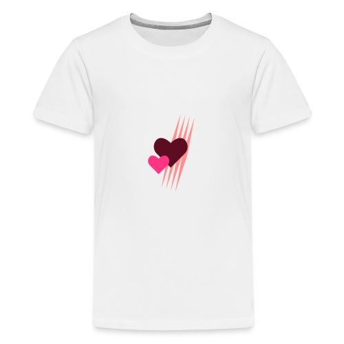 Teddy.Kidswear. – Hearts - Teenager Premium T-Shirt