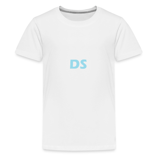 Drone Spotters logo blauw - Teenager Premium T-shirt