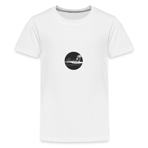 MF Logo Kreis schwarz - Teenager Premium T-Shirt