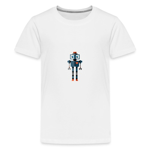 Blue Robot - Teenage Premium T-Shirt