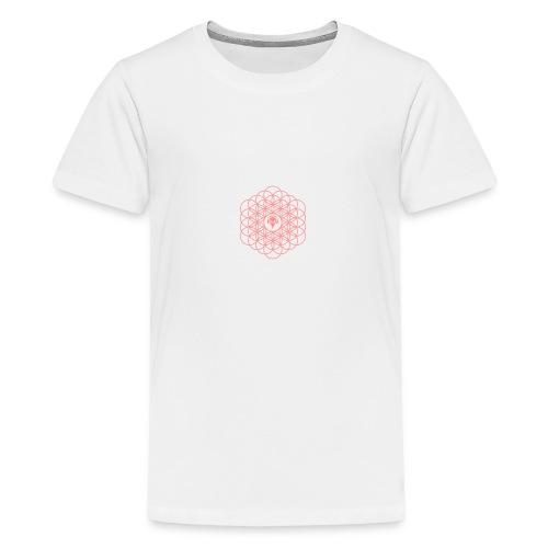 Blume des Lebens Pink - Teenager Premium T-Shirt
