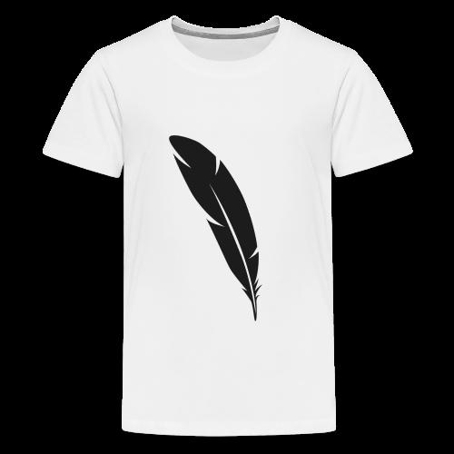 Plume ombre noire - T-shirt Premium Ado