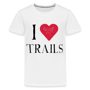 I HEART TRAILS - Teenager Premium T-Shirt