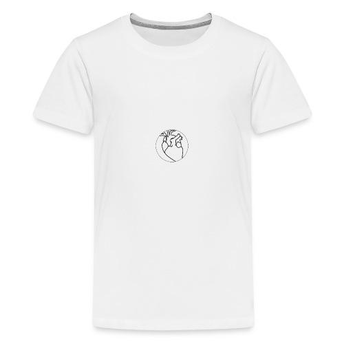 Black heart - Teenage Premium T-Shirt