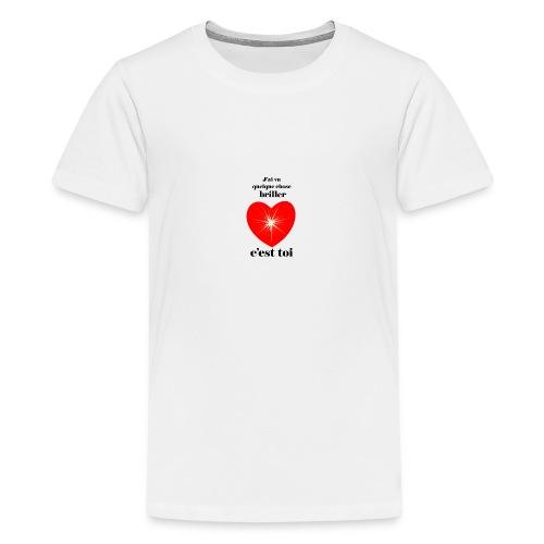 Coeur brillant ...amoureux ou inspiré FC - T-shirt Premium Ado