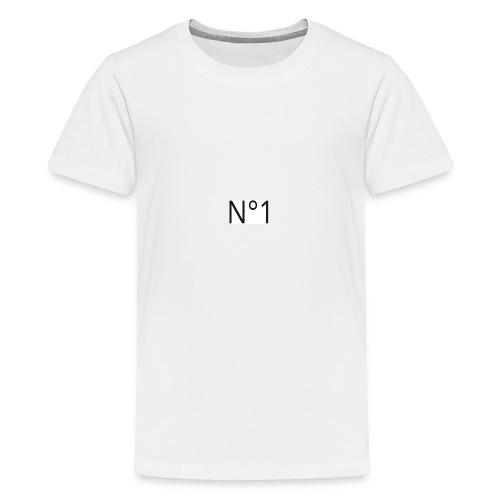 Number 1 black - Teenager Premium T-Shirt